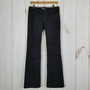 Tommy Hilfiger Black Mid-rise Bootcut Jeans